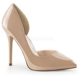 Beige Charol 13 cm AMUSE-22 Zapato Sal�n Clasico para Mujer
