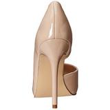 Beige Charol 13 cm AMUSE-22 Zapato Salón Clasico para Mujer