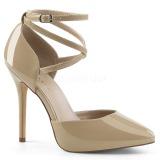 Beige Charol 13 cm AMUSE-25 Zapatos de Salón para Hombres