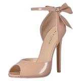 Beige Charol 13 cm SEXY-16 Zapato Salón Clasico para Mujer
