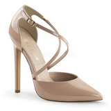 Beige Charol 13 cm SEXY-26 Zapato Salón Clasico para Mujer