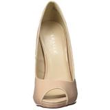 Beige Charol 13 cm SEXY-42 Zapato Salón Clasico para Mujer