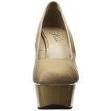 Beige Charol 15 cm Pleaser DELIGHT-685 Plataforma zapato de salón