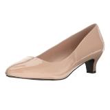 Beige Charol 5 cm FAB-420W Zapato de Salón para Hombres