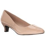 Beige Charol 5 cm FAB-420W Zapatos de Salón para Hombres