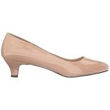 Beige Charol 5 cm FAB-420W zapatos de salón tacón bajo