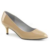 Beige Charol 6,5 cm KITTEN-01 zapatos de salón tallas grandes