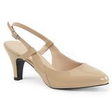 Beige Charol 7,5 cm DIVINE-418 zapatos de salón tallas grandes