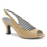 Beige Charol 7,5 cm JENNA-02 sandalias tallas grandes