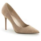 Beige Gamuza 10 cm CLASSIQUE-20 Stiletto Zapatos Tacón de Aguja