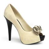 Beige Gamuza 13,5 cm LOLITA-10 Plataforma Zapato de Sal�n