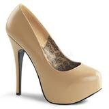 Beige Mate 14,5 cm BORDELLO TEEZE-06 Plataforma Zapatos de Salón