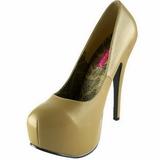 Beige Mate 14,5 cm Burlesque BORDELLO TEEZE-06 Plataforma Zapatos de Salón