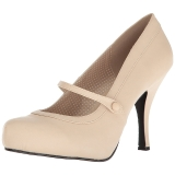 Beige Polipiel 11,5 cm PINUP-01 zapatos de salón tallas grandes