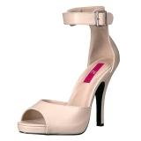Beige Polipiel 12,5 cm EVE-02 sandalias tallas grandes