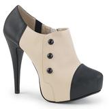 Beige Polipiel 13,5 cm CHLOE-11 zapatos de salón tallas grandes