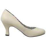 Beige Polipiel 7,5 cm JENNA-01 zapatos de salón tallas grandes