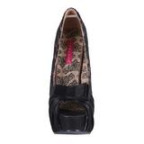 Beige Satinado 14,5 cm Burlesque TEEZE-28 Plataforma Zapatos de Salón