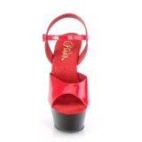Bicolor 15 cm KISS-209 Zapatos Tacón Aguja Plataforma