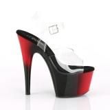 Bicolor 18 cm ADORE-708BR Zapatos plataforma con tacones