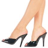 Black Varnish 13 cm Pleaser SEDUCE-101 Women Mules Shoes