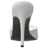 Blanco 10 cm CLASSIQUE-01 zuecos mujer tacón bajo