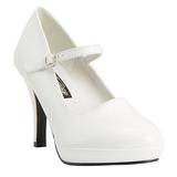 Blanco 10 cm CONTESSA-50 Mary Jane Zapato de Salón