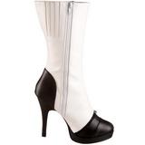 Blanco 11,5 cm SPLENDOR-130 botines con suela plataforma de mujer
