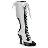 Blanco 11,5 cm TEMPT-126 Botas de Cordones Mujer