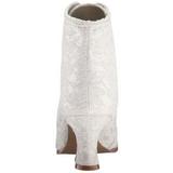 Blanco 12 cm VICTORIAN-30 Botines de Cordones Altos Mujer