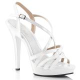 Blanco 13 cm Fabulicious LIP-113 sandalias de tacón alto