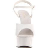Blanco 15 cm Pleaser DELIGHT-609 Tacones Altos Plataforma