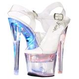 Blanco 18 cm FLASHDANCE-708 sandalias stripper con luz LED