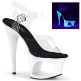 Blanco 18 cm MOON-708UV Sandalias Mujer Plataforma Neon