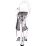 Blanco 18 cm TIPJAR-708-5 sandalias stripper con plataforma