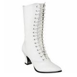 Blanco 7 cm VICTORIAN-120 Botines de Cordones Altos Mujer