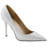 Blanco Charol 10 cm CLASSIQUE-20 Stiletto Zapatos Tacon de Aguja