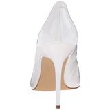 Blanco Charol 10 cm CLASSIQUE-20 Stiletto Zapatos Tacón de Aguja