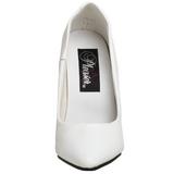 Blanco Charol 10 cm VANITY-420 Calzado de Salón Planos Tacón