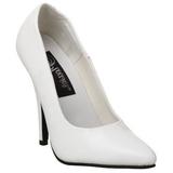 Blanco Charol 10 cm VANITY-420 zapatos de salón puntiagudos