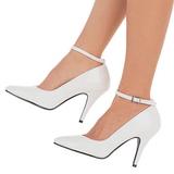 Blanco Charol 10 cm VANITY-431 Zapatos de Salón para Hombres