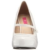Blanco Charol 11,5 cm PINUP-01 zapatos de salón tallas grandes