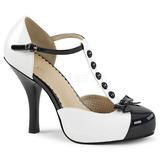 Blanco Charol 11,5 cm PINUP-02 zapatos de salón tallas grandes