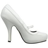 Blanco Charol 12 cm retro vintage CUTIEPIE-02 zapatos mary jane con plataforma escondida