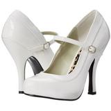 Blanco Charol 12 cm rockabilly PRETTY-50 zapatos de salón tacón bajo