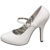 Blanco Charol 12 cm rockabilly TEMPT-35 zapatos de salón tacón bajo