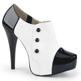 Blanco Charol 13,5 cm CHLOE-11 zapatos de salón tallas grandes