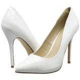 Blanco Charol 13 cm AMUSE-20 Stiletto Zapatos Tacón de Aguja