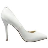 Blanco Charol 13 cm AMUSE-20 zapatos tacón de aguja puntiagudos