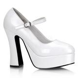 Blanco Charol 13 cm DOLLY-50 Mary Jane Plataforma Zapato de Sal�n